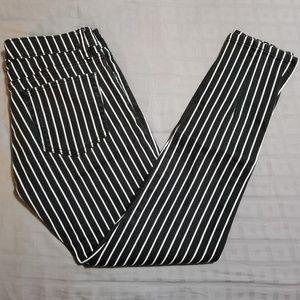 Ralph Lauren Striped Skinny Ankle Zip Jeans
